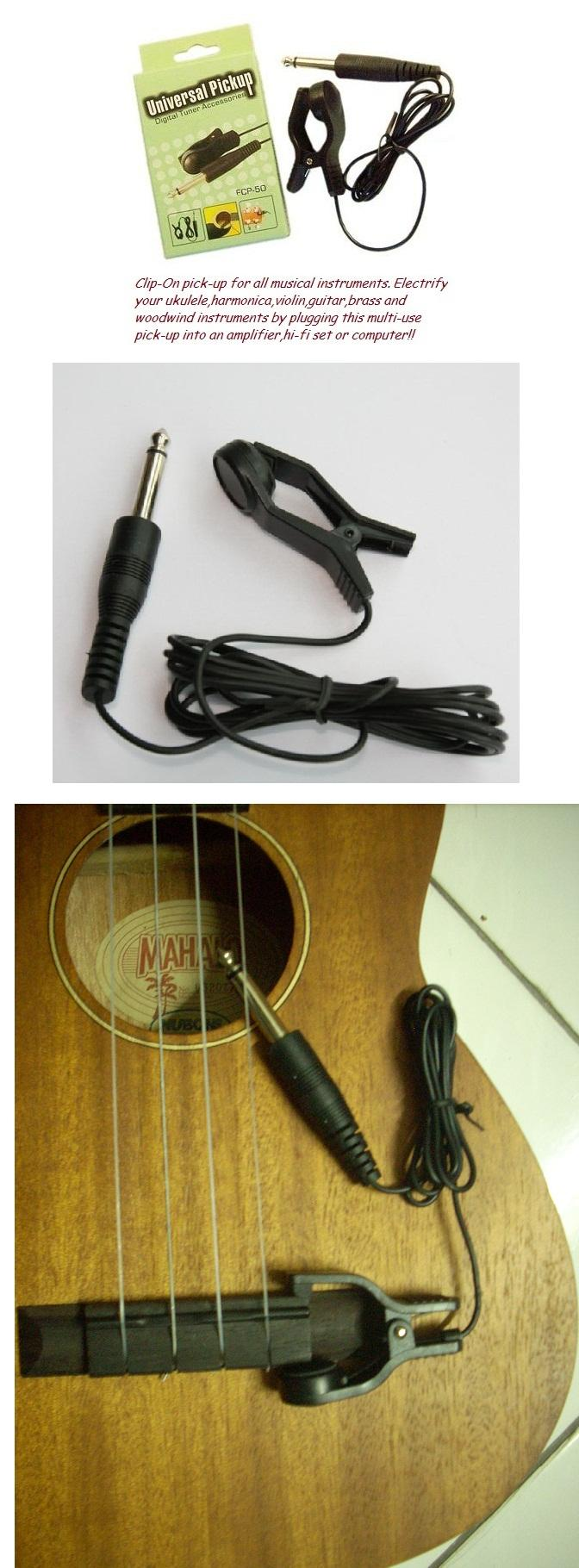 Universal Clip-on Pick-Up**Electrify Your Ukulele,Guitar,Harmonica,etc