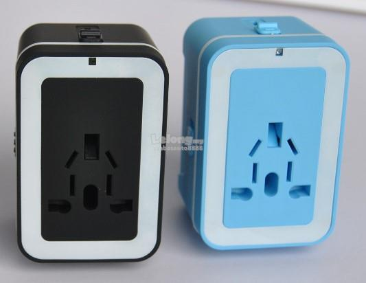 Universal Multifunction Travel Adaptor Plug Converter Dual USB Charger