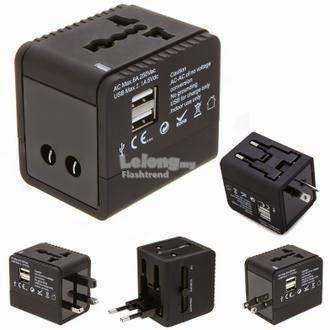 Universal Travel Adapter with 2 USB Ports (Free Shipping)