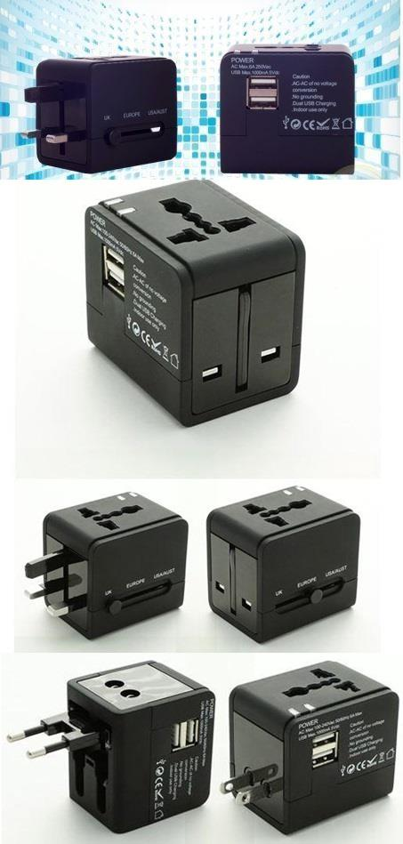 Universal Travel Adaptor with 2 USB Ports