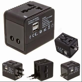 Universal Travel Power Plug Adapter with 2 USB Ports