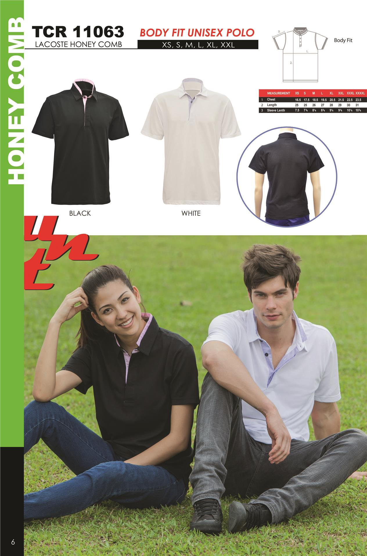 UNT UNIFORM HONEY COMB BODY FIT POLO SHIRT