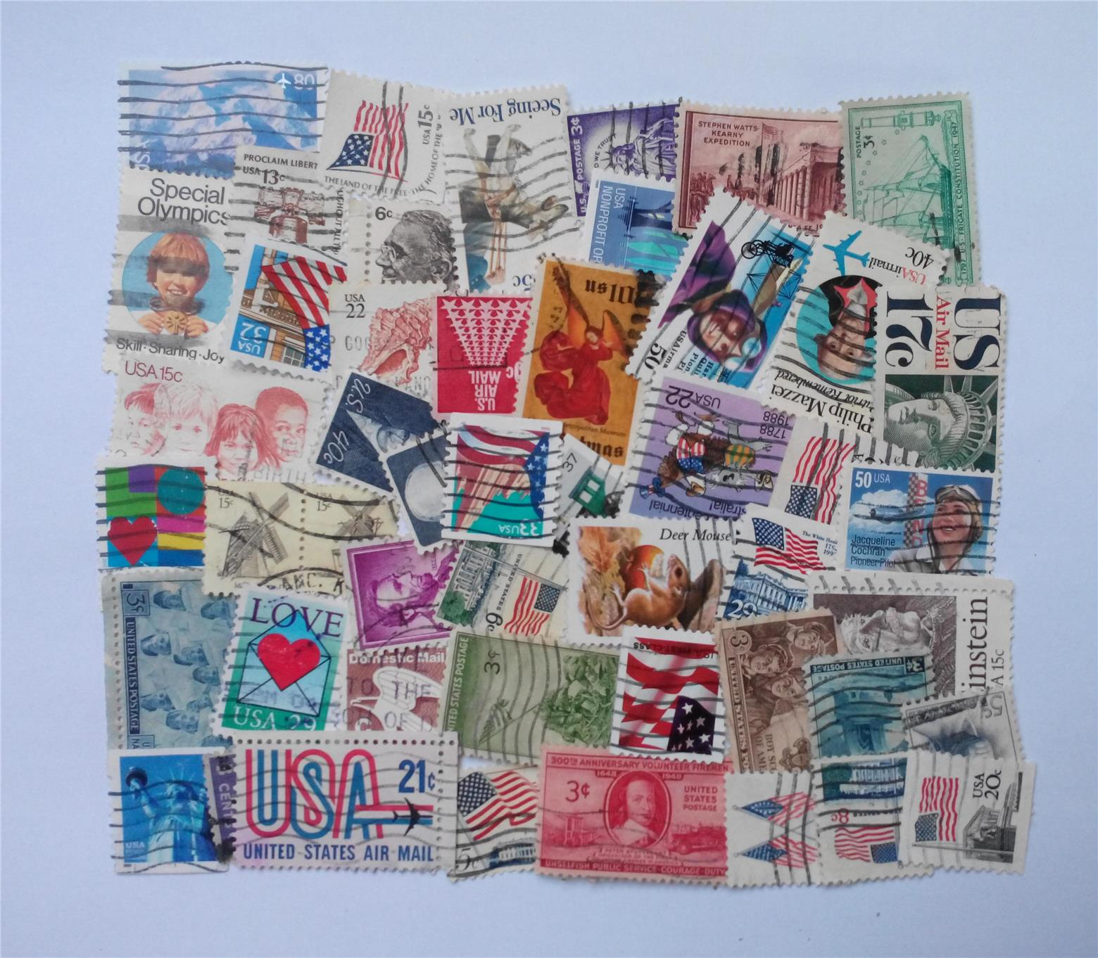 USA stamps mix 50 pcs
