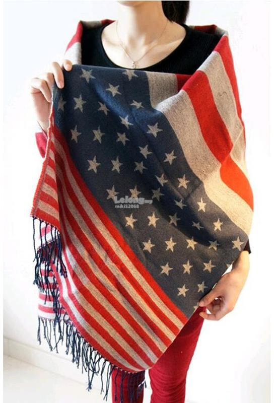 USA STAR Women Scarves, fashionable Scarves, Multi-use scarves, beach
