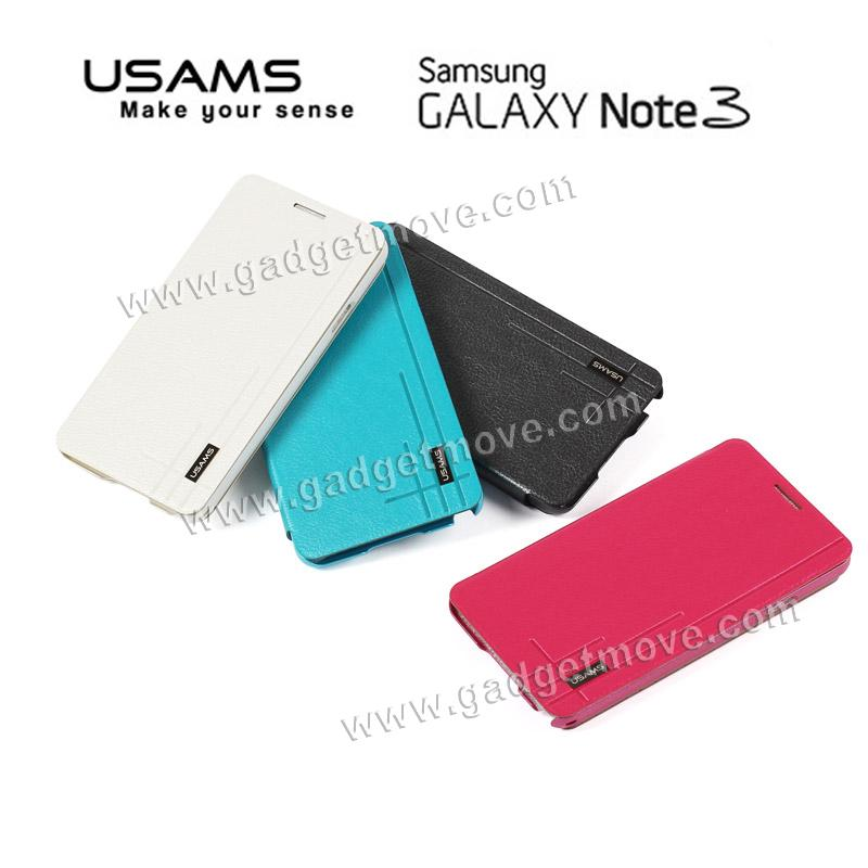 USAMS Starry Sky Samsung Galaxy Note 3 Flip Cover Leather Case