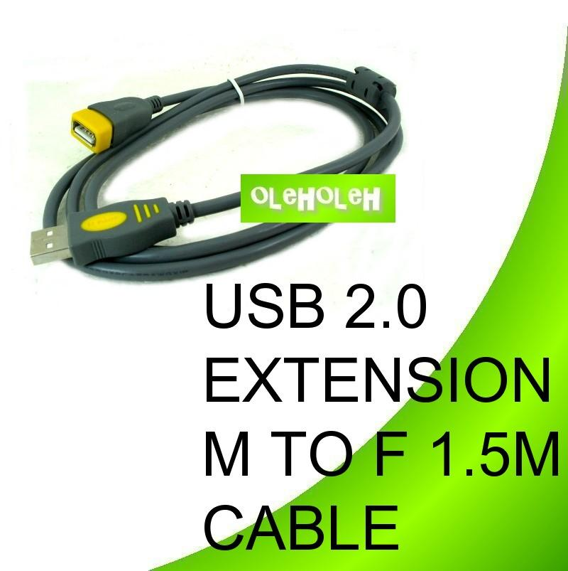 USB 2.0 1.5m Extension Cable A Female To A Male 1.5m meter