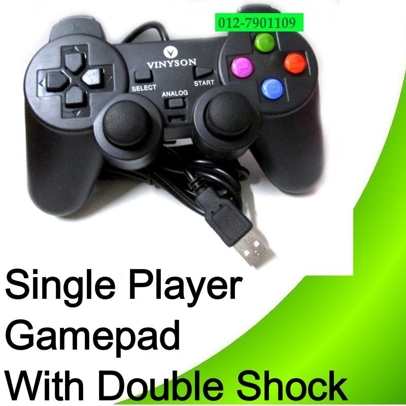 USB 2.0 Game Pad GamePad Player Joystick With Double Shock Vibration