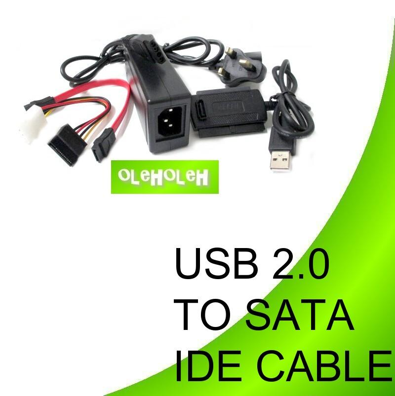 USB 2.0 to SATA & IDE Hard Disk Cable Converter