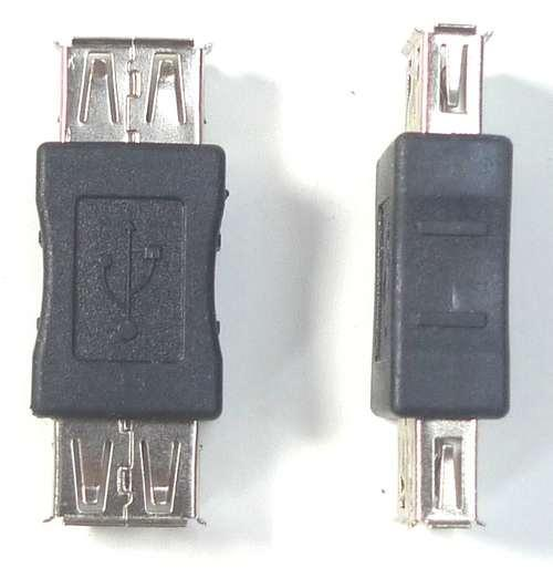 USB 2.0 type A Female to Female Coupler Cord Adapter