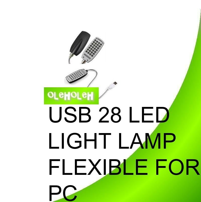 USB 28 LED Light Lamp Flexible for PC Notebook Laptop
