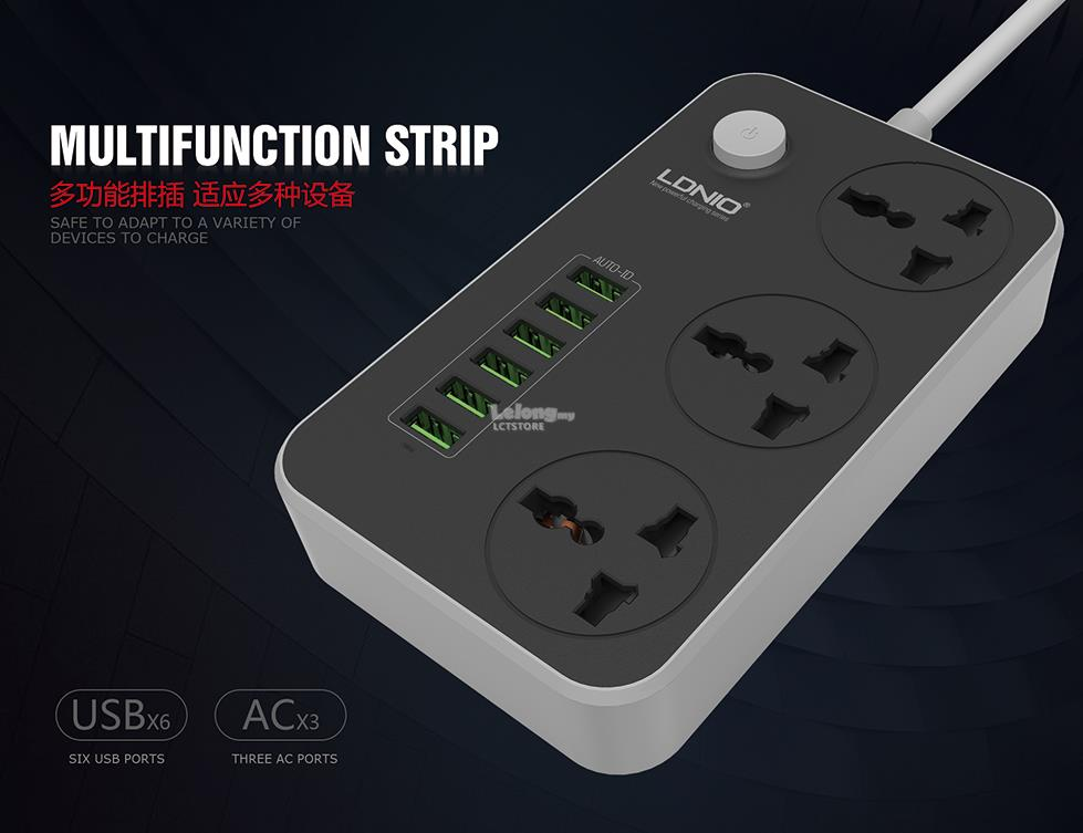 USB CHARGER + 6 USB Ports LDNIO SC3604 Power Strip