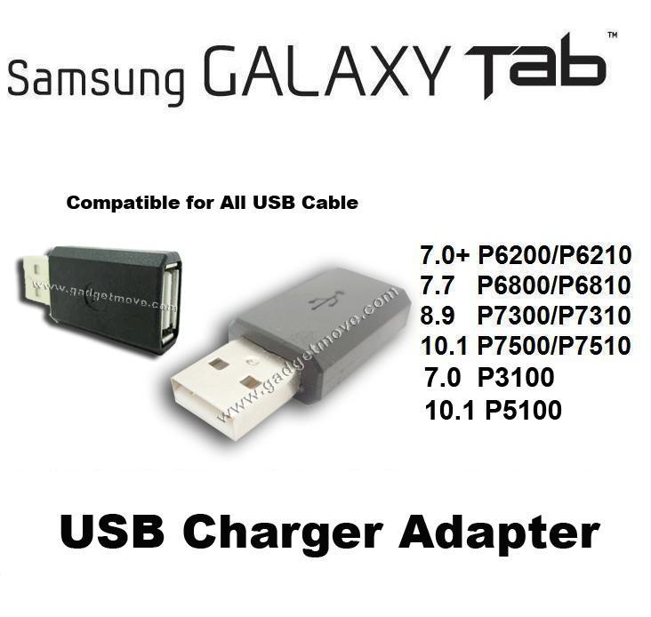 USB charger Adapter For Samsung GALAXY Tab 2 7.0 10.1 Note 10.1 N8000