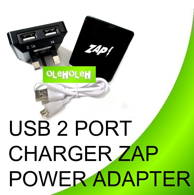 USB Charger Power Adapter With Two USB Port ZAP