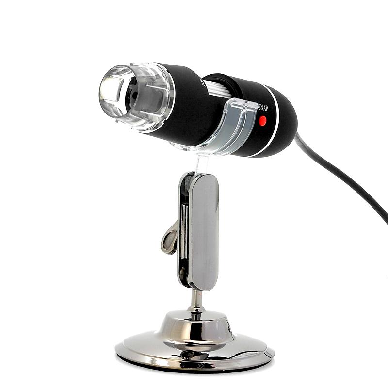 USB Digital Microscope - 400x Zoom, 8 Super-Bright LEDs, Video and Pic