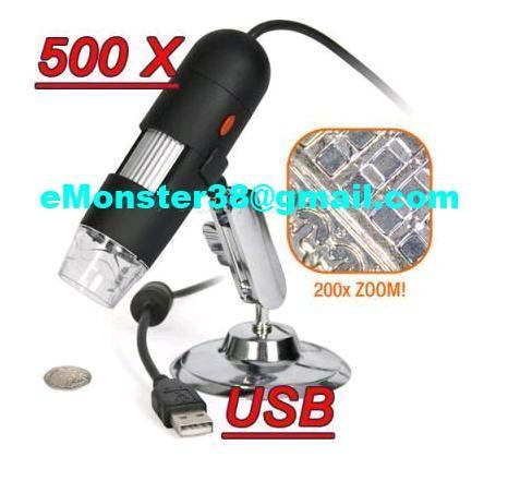 USB DIGITAL MICROSCOPE Camera 500x 2.0MP Mega Pixel with 8x LED
