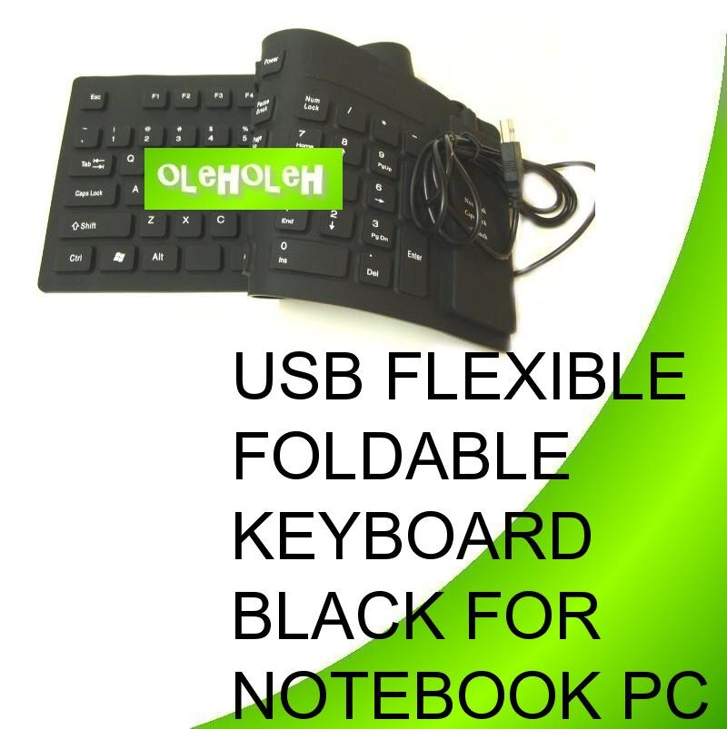USB Flexible Foldable Keyboard For Notebook PC computer System-LARGE