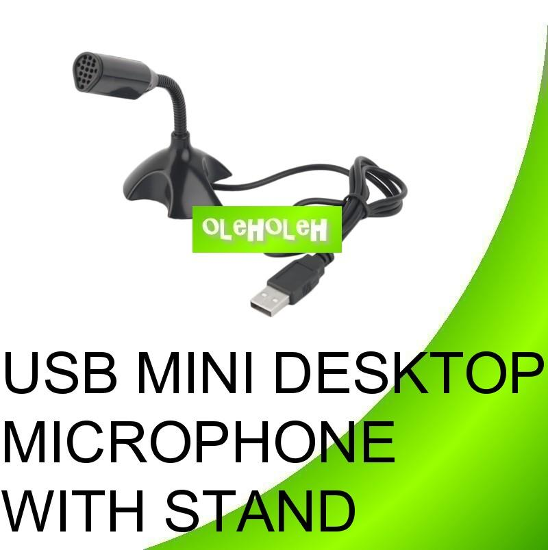 USB Mini Microphone For Laptop Desktop Studio With Stand