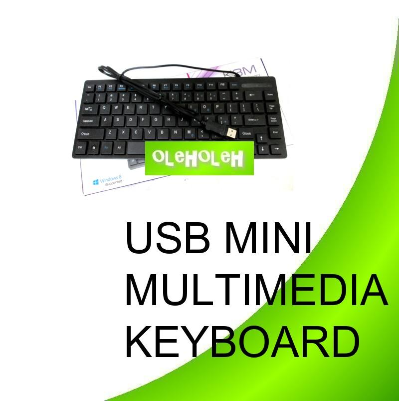 USB Mini Multimedia Keyboard Numeric Function Slim Design