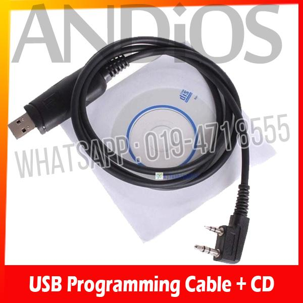 USB Programming Cable For KENWOOD/BAOFENG/TYT/WOUXUN Walkie Talkie