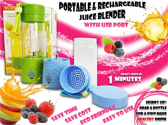 USB Rechargeable Battery Juice Blender