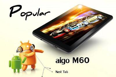 UTOO AIGO Pad M60 Android Tablet Tab 6' Inch Wifi Capacitive 4GB