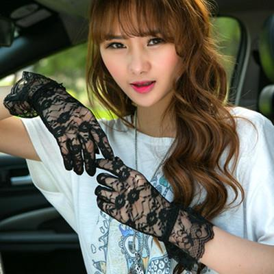 UV Protection Short Type Lace Glove