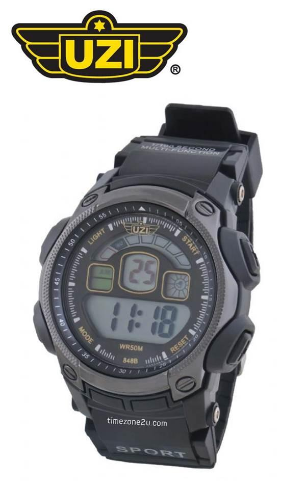 UZI MILITARY U05 Digital Sport Tactical Black Rubber Watch (Type II)