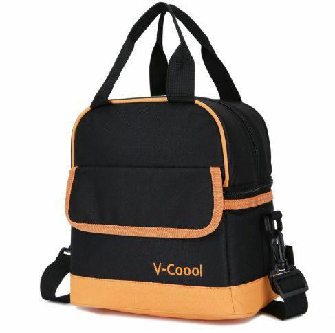 NEW V-COOL 2 LAYER COOLER BAG PLAIN BLACK
