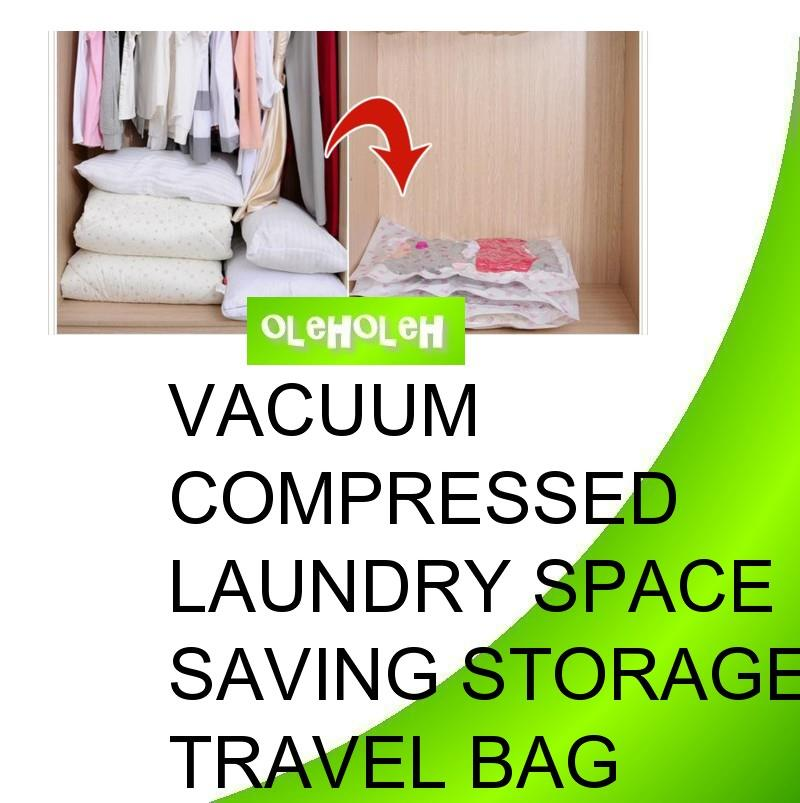 Vacuum Compressed Laundry Space Saving Storage Travel Bag