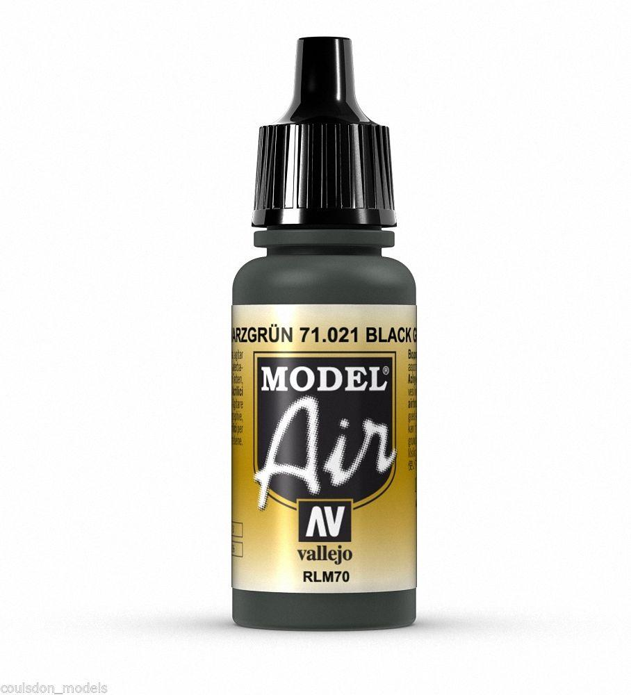 Vallejo Paint - Model Air 71021 Black Green (17ml)