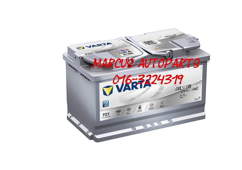 VARTA START-STOP AGM F21 DIN80 CAR BATTERY (580901080)