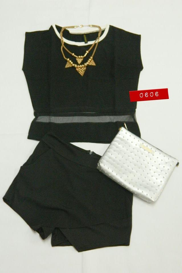 VEM Fashion Top With Shorts Set Wear