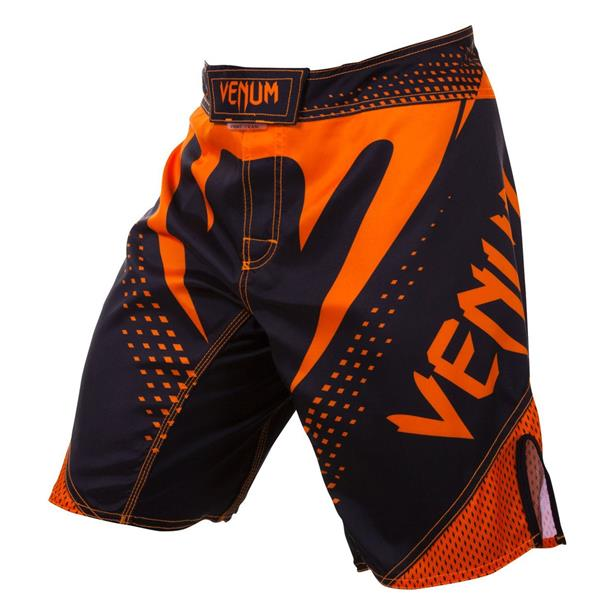 VENUM HURRICANE FIGHT SHORTS - BLACK/NEO ORANGE - XS