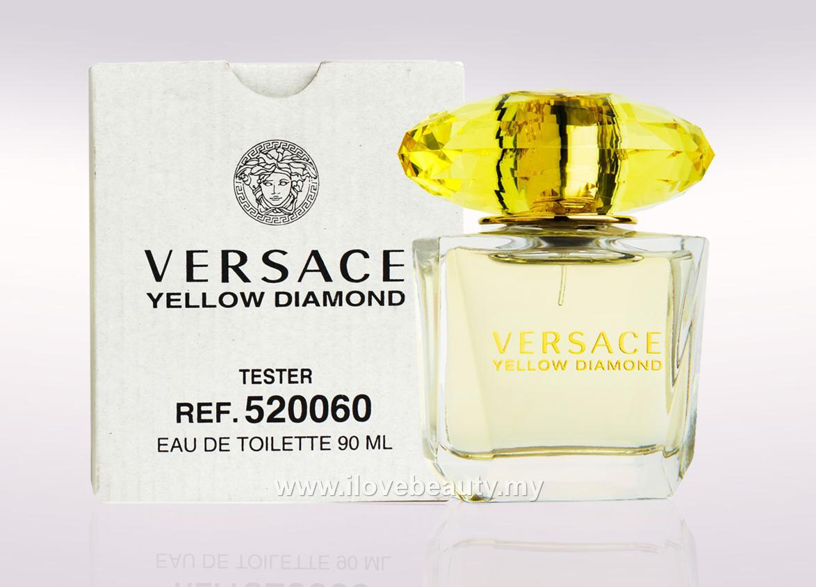 VERSACE YELLOW DIAMOND - WOMEN EDT 90ml ( TESTER PERFUME-Without Cap )