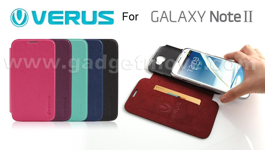 Verus Saffiano Samsung Galaxy Note 2 N7100 2 in 1 Wallet Leather Case