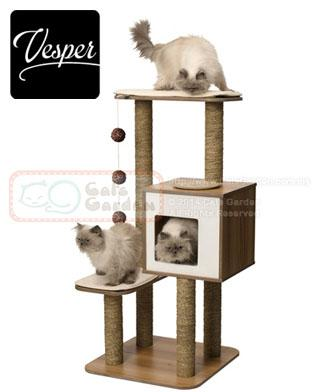 Vesper Cat Tree V High Base Walnut End 2 2 2018 3 15 Pm
