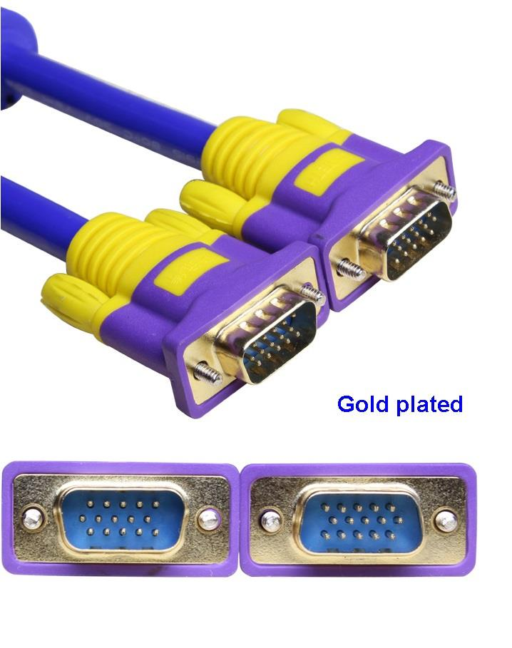 VGA Cable 3+9 1.5M Cable Male to Male High quality Full HD 1080p 1M 2M