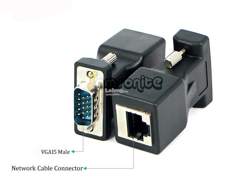 VGA to RJ45 LAN Network Cable Video Extender Adapter(Male)