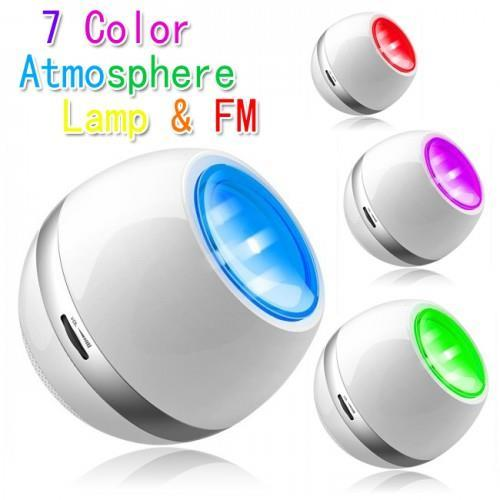 Vibe - Multi Color LED Mood Light with Speaker, FM Radio, AUX IN
