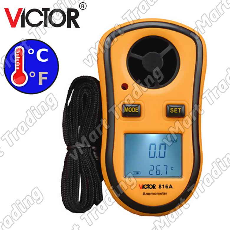 VICTOR 816A Digital Anemometer with Thermometer Function