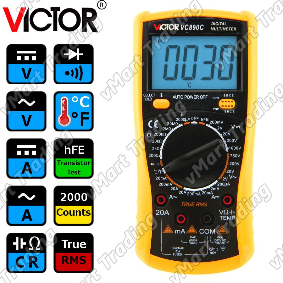 VICTOR VC890C True RMS Digital Multimeter
