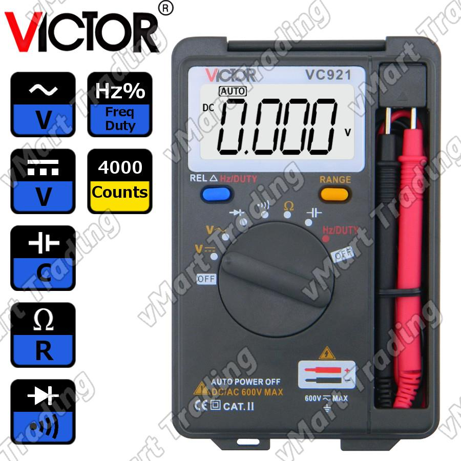 VICTOR VC921 Pocket-Size Digital Multimeter