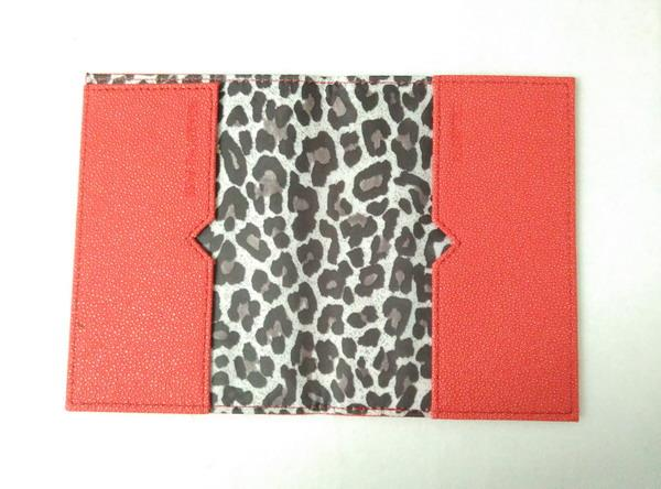 Victoria's Secret PU LEATHER Passport Holder Boarding Pass Travel RED