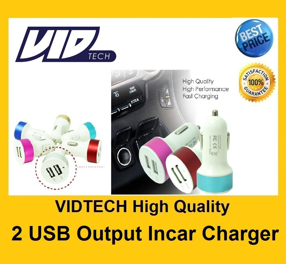 VIDTECH 2.1 Two USB Output In Car Charger Adapter T2 FEW COLOUR