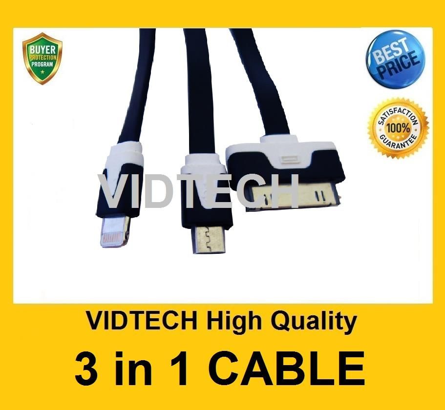 VIDTECH 3IN1 Cable for Samsung HTC iPhone 5s iPhone 4s  PROMOTION !