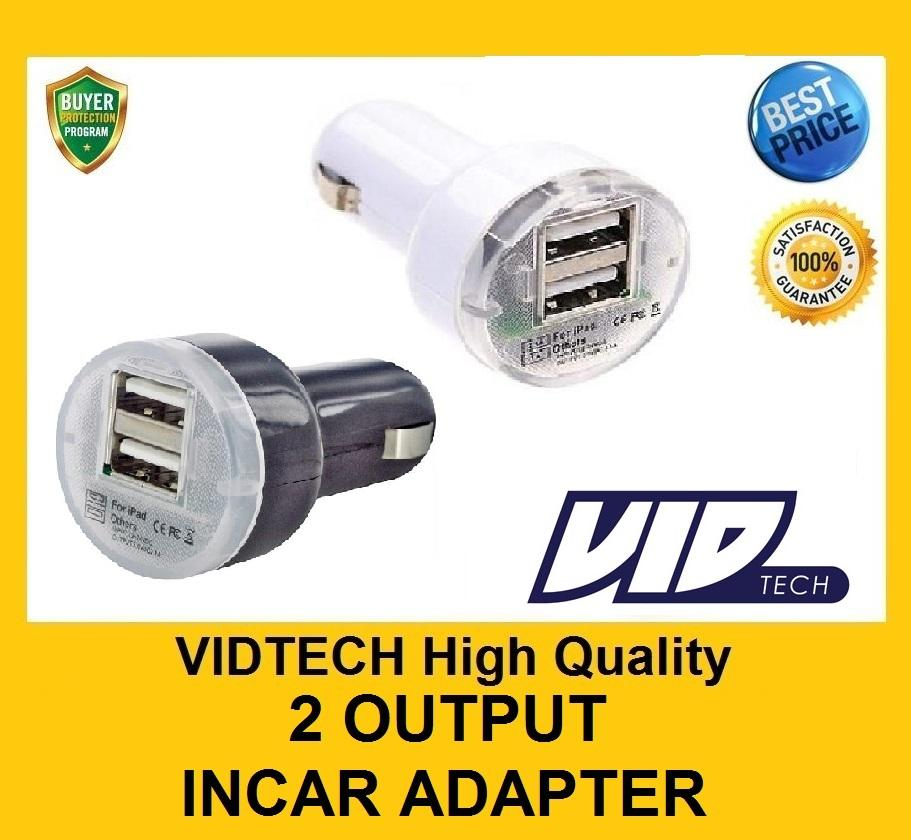 VIDTECH Dual USB 2.1 Adapter In Car Charger for Samsung iPhone iPad
