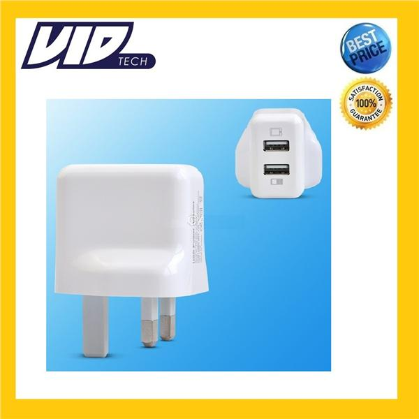 VIDTECH Henca 2 USB Output Wall Plug Charger Adapter for iPad , iPhone