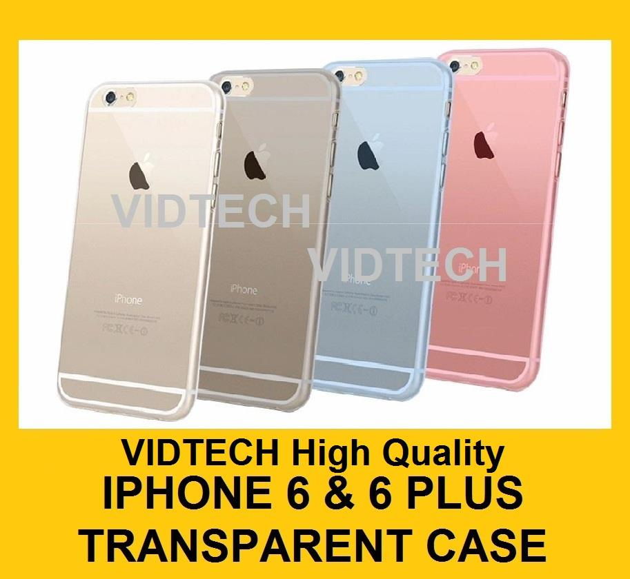 VIDTECH iPhone 5 6 & 6 Plus Ultra Thin 0.3mm Transparent Back Case