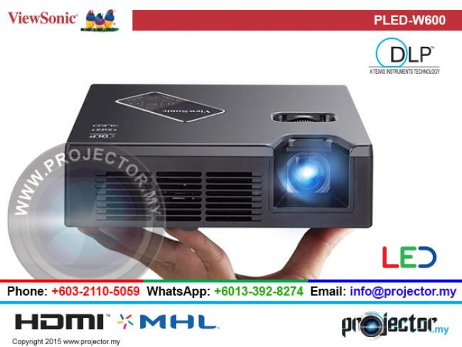 VIEWSONIC PLED-W600 LED PORTABLE PROJECTOR