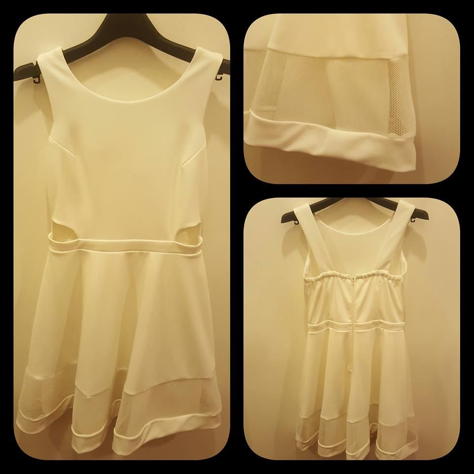VIP Full White Skater Dress (5339)